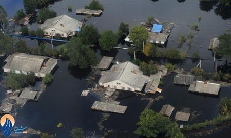 جاری شدن سیل در مناطقی از شرق روسیه