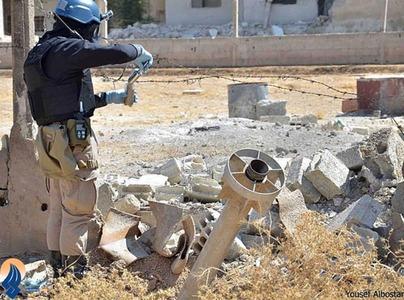 ادامه تحقیقات ماموران سازمان ملل در محل بمبارانهای شیمیایی در حومه دمشق