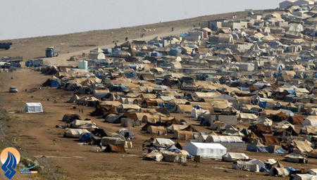 یکی از اردوگاههای آورگان سوری در مرز ترکیه