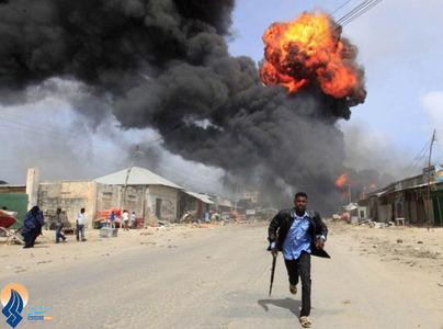 انفجار یک پمپ بنزین در شهر موگادیشو _ سومالی