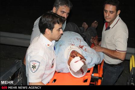 تصادف خونین اتوبان تهران - قم