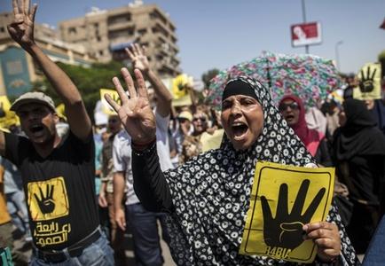 تظاهرات حامیان محمد مرسی بعد از برپایی نماز جمعه در قاهره