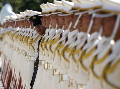 استفبال گارد احترام توکیو برای بازگشت نخست وزیر از یک سفر خارجی _ ژاپن