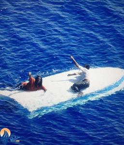 نجات دو مرد بعد از 8 روز سرگردانی در دریا _ آمریکا