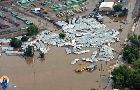 خسارات ناشی از سیل ویرانگر در کلرادو _ آمریکا