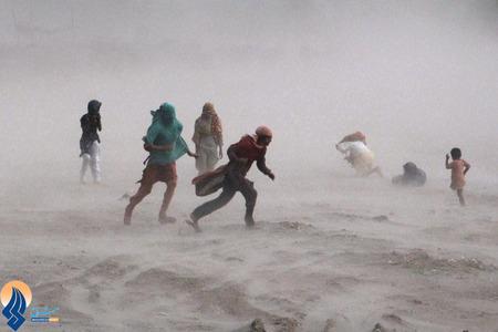 طوفان شن در شهر لاهور _ پاکستان