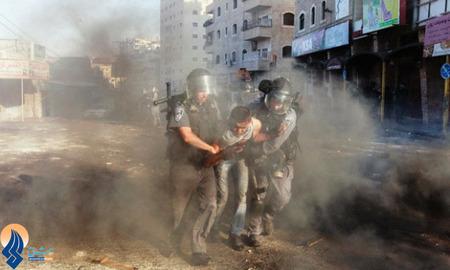 درگیری جوانان فلسطینی با سربازان صهیونیستی در سالروز انتفاضه دوم _ کرانه باختری