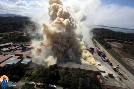 آتش سوزی در یک کارخانه تولید کود شیمیایی _ برزیل