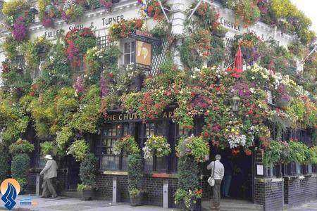 یک گلفروشی زیبا در لندن با نام چرچیل