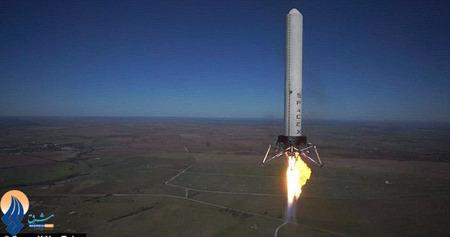 پرتاب یک موشک سبک آزمایشی در تگزاس _ آمریکا
