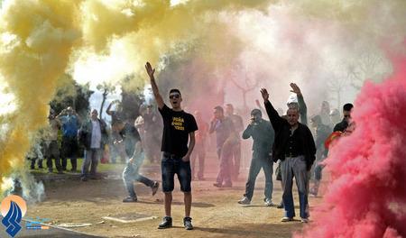 تظاهران ضددولتی کاتالانها در شهر بارسلون اسپانیا