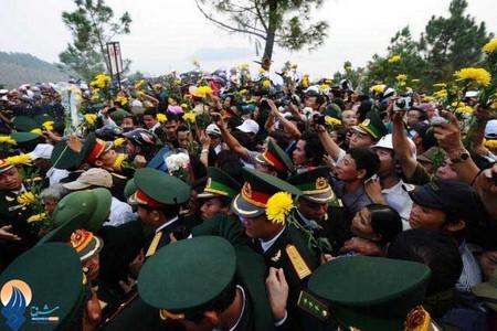 مراسم خاکسپاری یکی از ژنرالهای قدیمی ارتش ویتنام