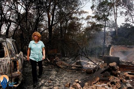 خسارات ناشی از آتش سوزی جنگلهای سیدنی _ استرالیا