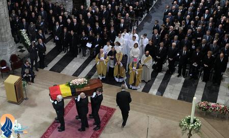 مراسم ترحیم و درگذشت ویلفرد مارتینز،نخست وزیر اسبق بلژیک