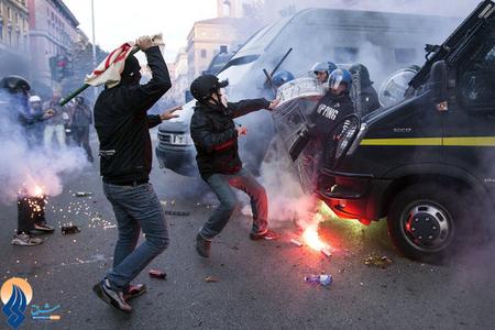 ادامه اعتراضات مردم ایتالیا نسبت به سیاسیتهای ریاضت اقتصادی اتحادیه اروپا