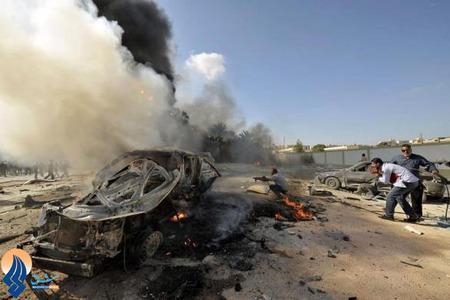 انفجار یک خودروی بمب گذاری شده مقابل یک مدرسه در شهر بنقازی _ لیبی