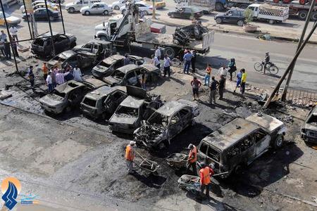 دهها کشته و زخمی در انفجارهای تروریستی روز یکشنبه بغداد