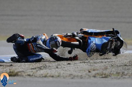 حادثه برای موتورسوار تیم اسپانیا در مسابقات جایزه بزرگ ژاپن