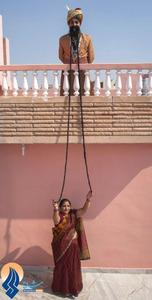 مرد هندی رکورد دار بلندترین سبیل دنیا به طول 4/2 متر