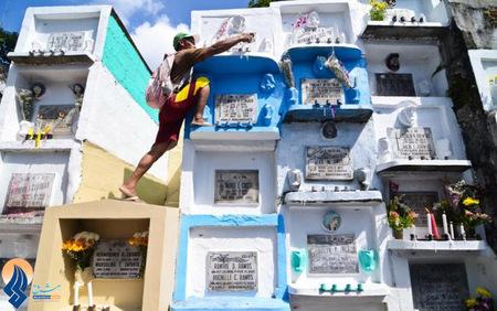 قبرستانی در شهر ماریکینا _ فیلیپین