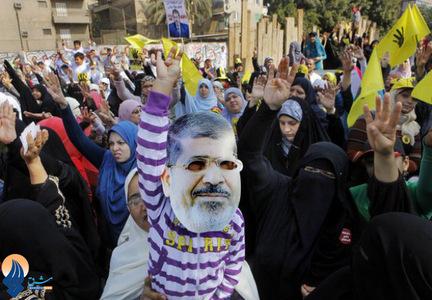 تظاهرات حامیان محمد مرسی بعد از نماز جمعه در قاهره