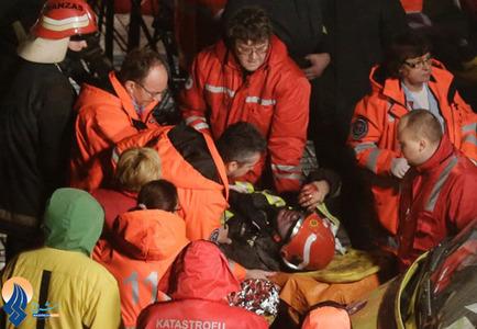 ادامه امدادرسانی به مجروحان حادثه فروریختن یک فروشگاه در لتونی