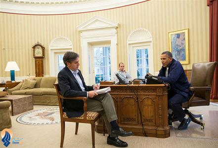 جلسه اوباما و مشاورانش هنگام توافق ایران و 5 +1 در ژنو _ کاخ سفید
