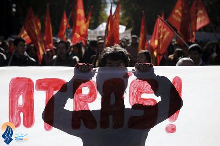 تظاهرات ضددولتی مردم اسپانیا نسبت به افزایش بیکاری و درخواست برای استعفای دولت