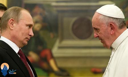 سفر پوتین به واتیان و دیدار با پاپ فرانسیس