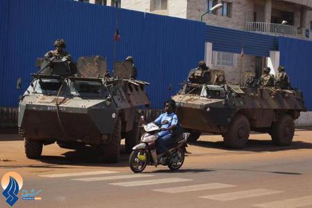 گشت زنی نیروهای ارتش فرانسه در شهر بانجی در آفریقای مرکزی