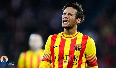 چهره ناراحت نیمار بعد از اولین شکست این فصل بارسا در دیدار با بیلبائو