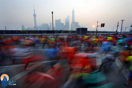 برگزاری مسابقات دو ماراتن در شهر شانگهای _ چین