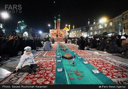 تصاویر/ بزرگترین سفره حضرت رقیه سلام الله علیها