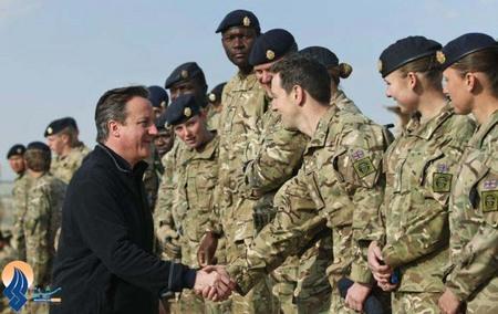 سفر دیوید کامرون به افغانستان و دیدار با نظامیان بریتانیایی