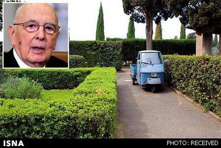 جرجیو ناپولیتانو (رئیس جمهور ایتالیا) ـ سه چرخ