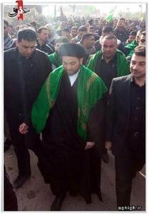 سید عمار حکیم رییس مجلس اعلای اسلامی در پیاده روی اربعین