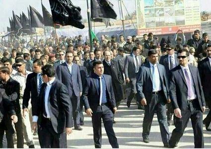 نوری المالکی نخستوزیر عراق در آیین پیادهروی اربعین سیدالشهدا (ع)