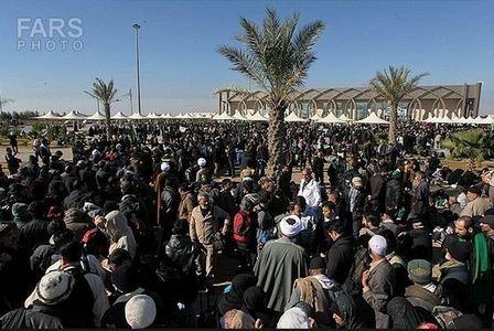 حضور زائران حسینی در مرز شلمچه
