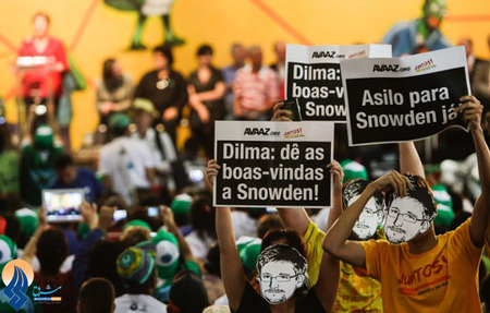درخواست تعدادی از جوانان برزیلی از رئیس جمهور این کشور برای اهداء پناهندگی به جان اسنودن