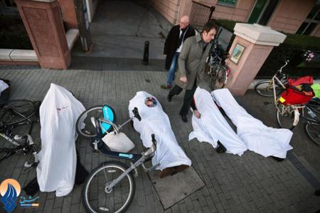 اعتراض عجیب دوچرخه سواران لندنی به بی اهمیتی شهردار لندن به حقوق دوچرخه سواران این شهر