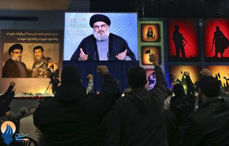 سخنرانی سید حسن نصرالله به طریق ویدئو کنفرانس در بیروت
