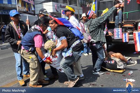 ادامه اعتراضات و درگیریها در بانکوک