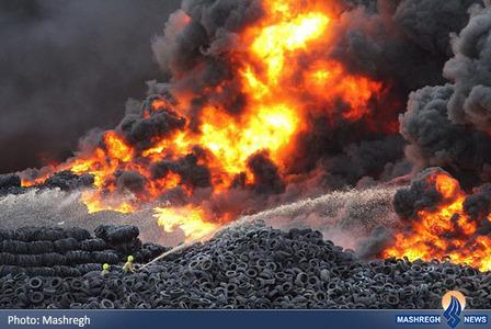 آتش سوزی در یک کارخانه بازیافت در انگلیس