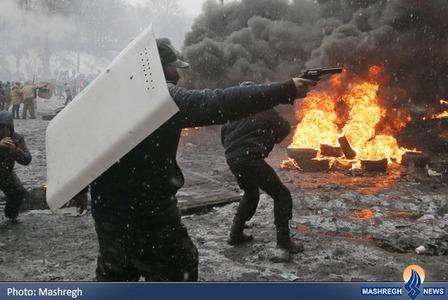ادامه درگیری مخالفان ضددولتی و نیروهای امنیتی اوکراین