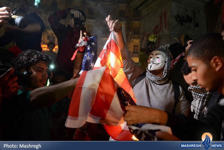 تظاهرات ضدآمریکایی حامیان اخوان المسلمین در قاهره