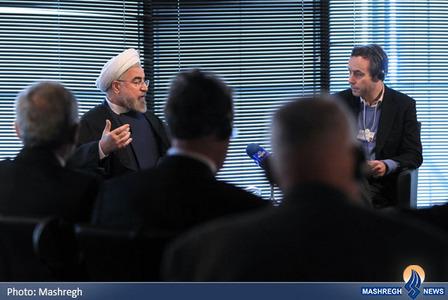 گفتگوی رییس جمهوری با مدیران ارشد رسانه های جهان در داووس
