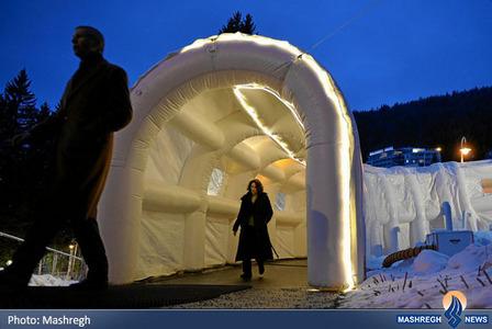 تونل ورودی محل اجلاس