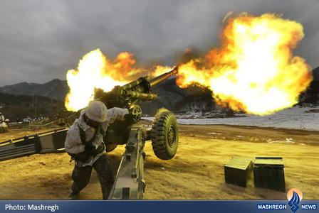 مانور توپخانه ارتش کره جنوبی