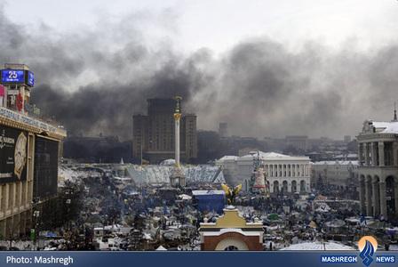 ادامه درگیری ها در کیف