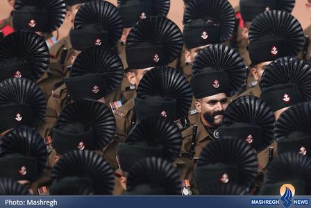رژه نیروهای ارتش هند